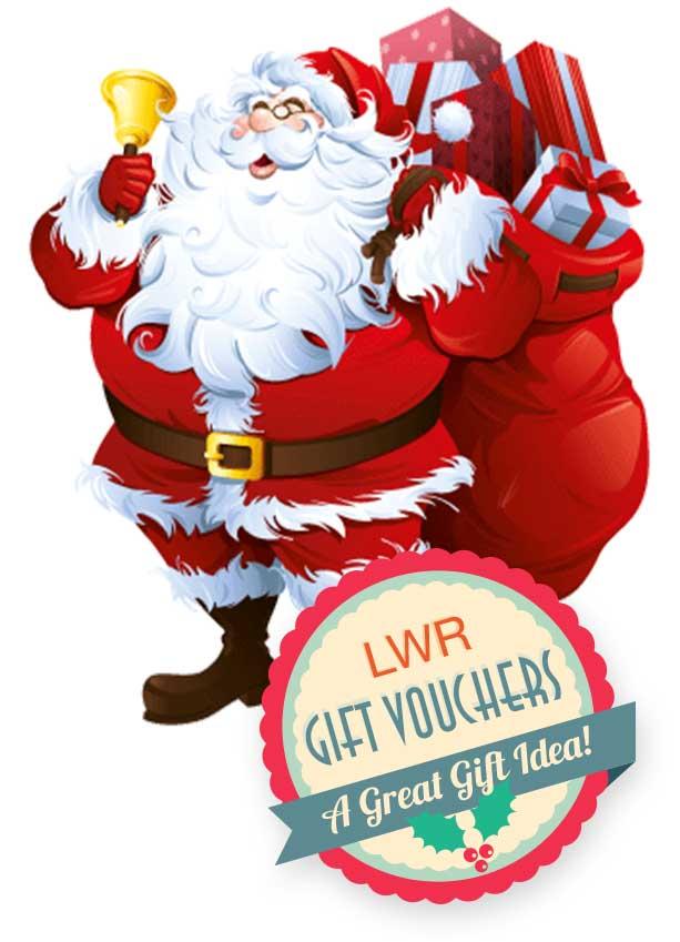 Santa with gift voucher