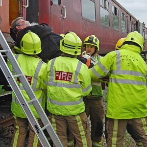 Passengers rescued in training exercise