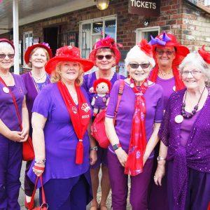 Red Hatters visit steam railway